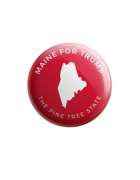 Maine for Trump Button - Red