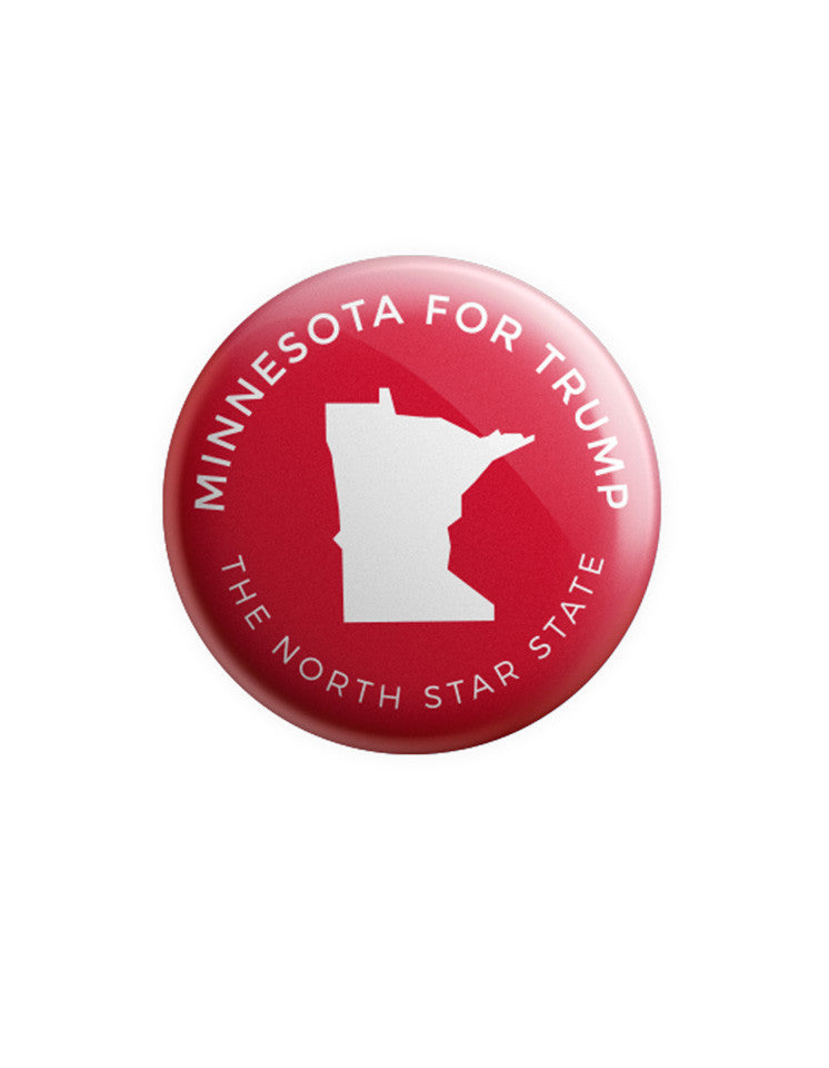Minnesota for Trump Button - Red