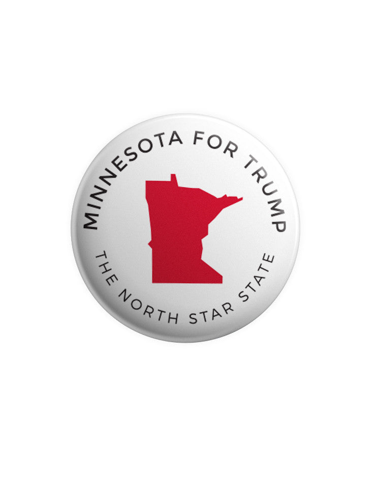 Minnesota for Trump Button - White