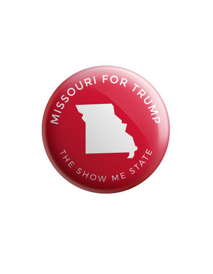 Missouri for Trump Button - Red