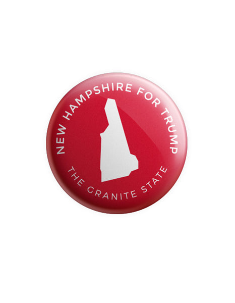 New Hampshire for Trump Button - Red