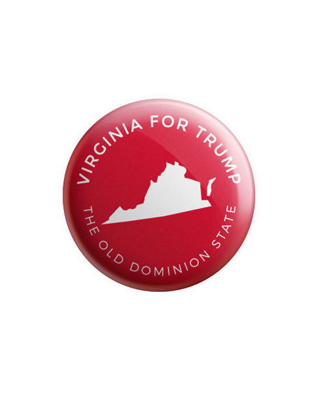 Virginia for Trump Button - Red