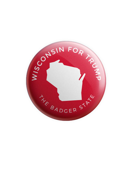 Wisconsin for Trump Button - Red