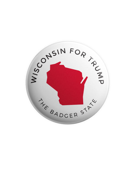 Wisconsin for Trump Button - White