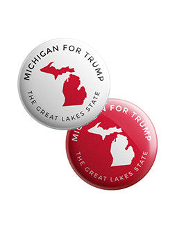 Michigan for Trump Buttons Bundle