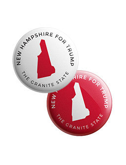 New Hampshire for Trump Buttons Bundle