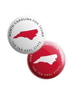 North Carolina for Trump Buttons Bundle