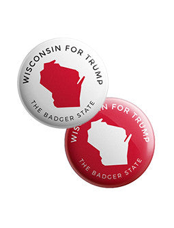Wisconsin for Trump Buttons Bundle