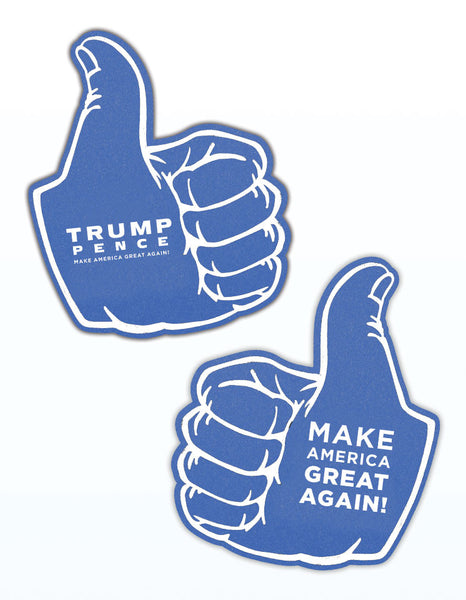 Foam Thumbs Up for Trump - Blue