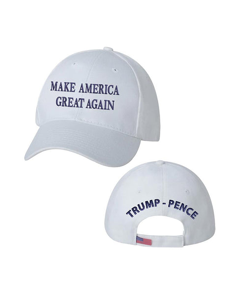 Trump-Pence Make America Great Again Ball Cap - White