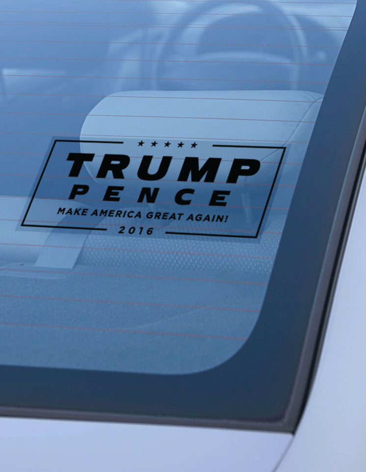Trump-Pence Campaign Window Cling - Black