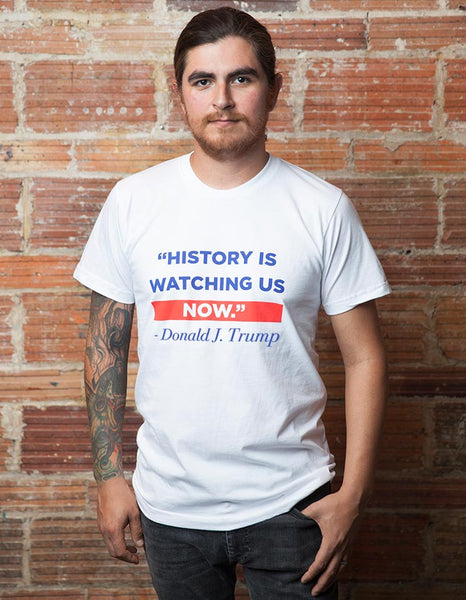 History Is Watching Men's Tee - Large