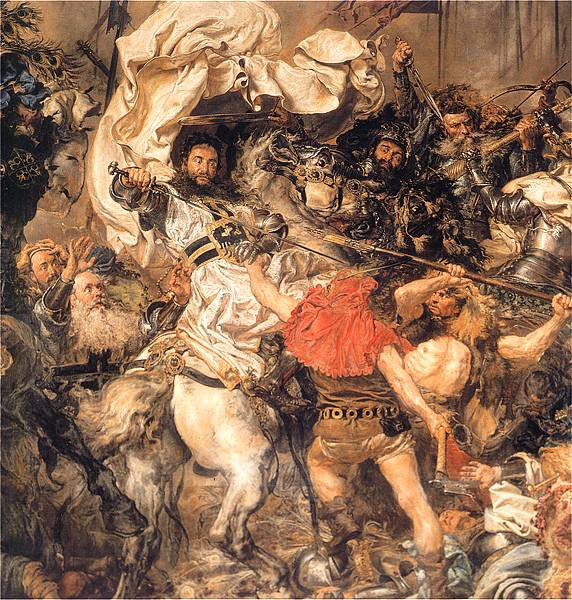 "Detail of Matejko's ""The Battle of Grunwald"""