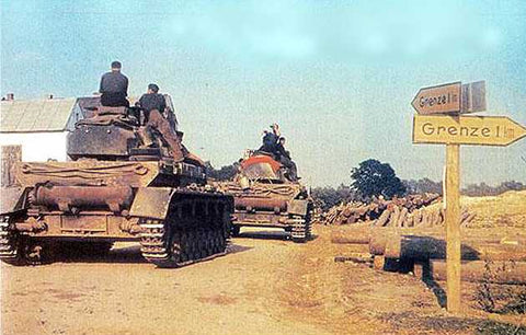 german tanks polish border