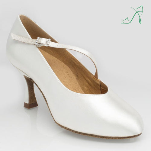 Ray Rose 116A Rockslide | White Satin | Ballroom Dance Shoe