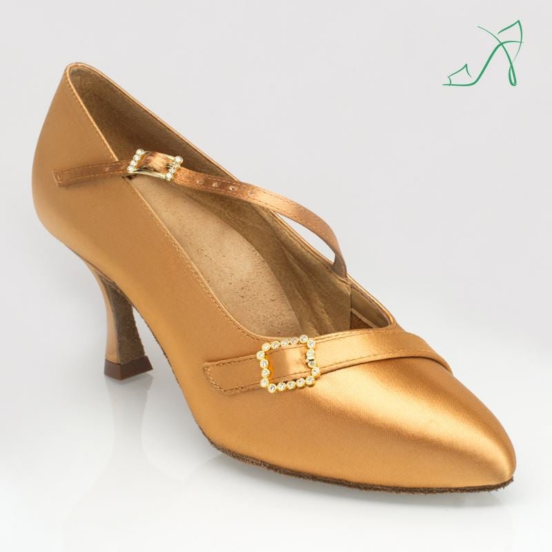 Ray Rose 129A Savannah | Flesh Satin | Ballroom Dance Shoe