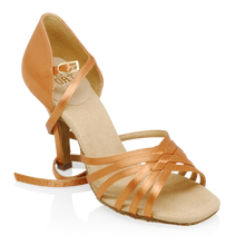Ray Rose H866-X Dion Xtra | Light Tan Satin | Latin Dance Shoes