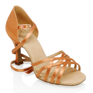 Ray Rose H860-X Kalahari Xtra | Light Tan Satin | Ladies Latin Dance Shoes