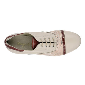 Tangolera Womans 105 Beige leather printed copper