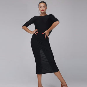Black Backless Latin Dress