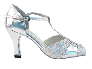 Very Fine 6006 Silver Leather & Silver Sparklenet