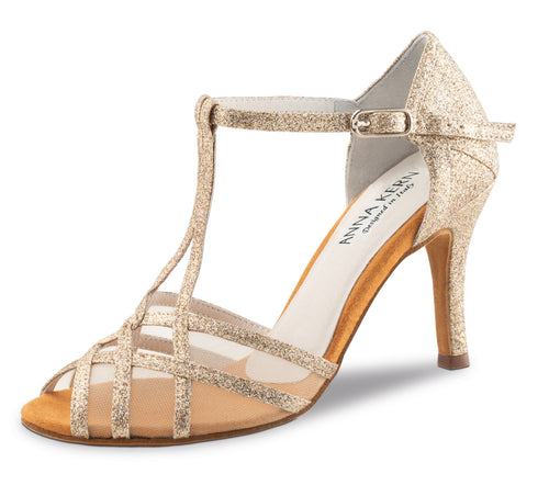 Anna Kern Ladie's Dancing Shoe 870-75 7,5 cm Sparkle gold