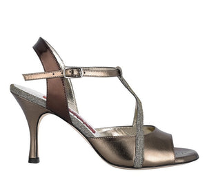 Tangolera A10 Covered notturno bronze leather Heel 7