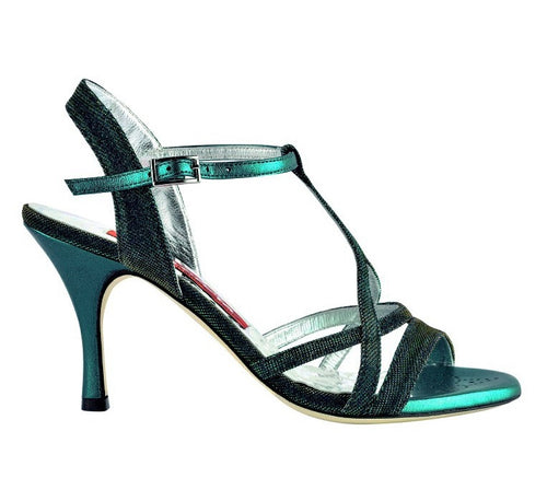 Tangolera A11 notturno blue/green Heel  7cm Narrow Fit