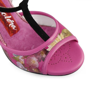 Tangolera A14 Bloom printed leather heel 9