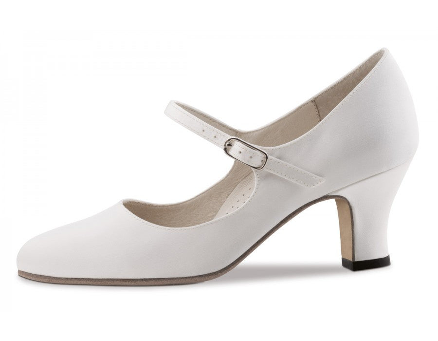 Werner kern Ashley 6 Satin white with Leathersole for outside