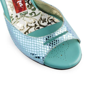 Tangolera A 1 B Ocean printed leather Heel 8 cm