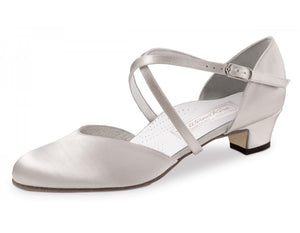 Werner kern Felice Felice 3,4 Satin white Comfort with outside leather sole
