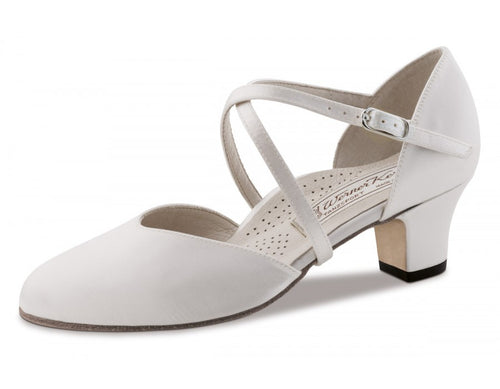 Werner kern Felice 4,5 Satin white Comfort with outside leathersole