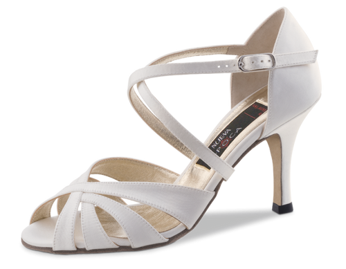 Nueva Epoca Paris 6 Satin white with outside leather sole