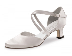 Werner kern Patty 5,5 Satin white with outside leather sole
