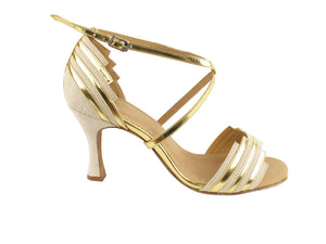 Very Fine SERA1700 Beige Nubuck & Gold Trim
