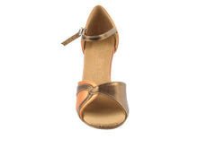 Very Fine SERA3710 Tan Satin & Dark Tan Gold Trim