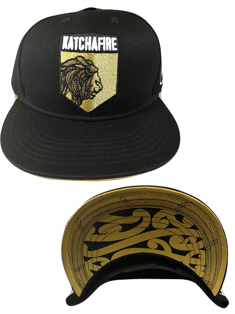 Katchafire X Calibis - Embroidered Snapback (Black/Gold)