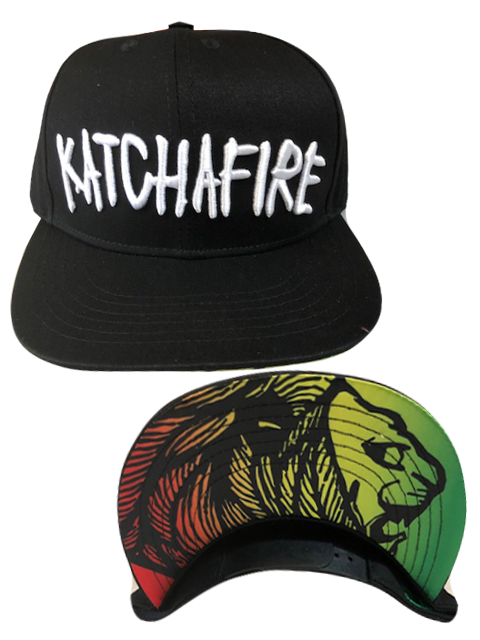 Katchafire X Calibis - Embroidered Snapback (Black/Rasta)