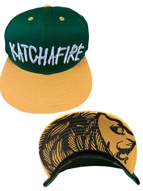 Katchafire X Calibis - Embroidered Snapback (Green/Yellow)