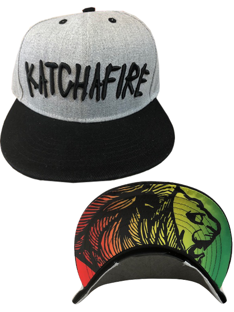 Katchafire X Calibis - Embroidered Snapback (Grey/Black)
