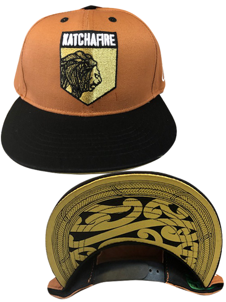 Katchafire X Calibis - Embroidered Snapback (Tan/Black)