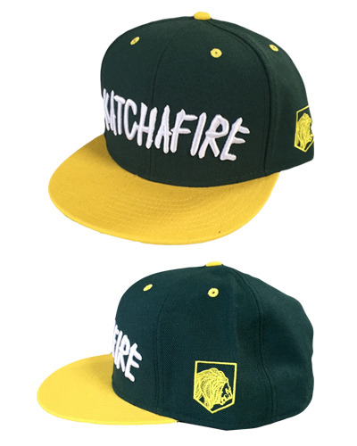 Katchafire X Calibis - Embroidered Snapback (Yellow/Green)
