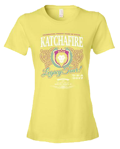 2017 Legacy Tour Ladies Tee (Yellow)