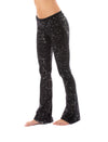 Hard Tail Forever - Contour Roll Down Boho Bell Bottom Flare Pant (W-598-sp2, Black w/Silver Spackle) alt view 7