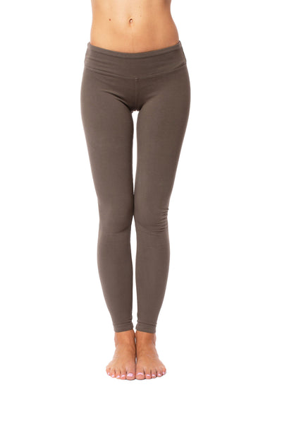 Hardtail Flat Waist Ankle Legging (Style W-452, Gravel) by Hard Tail Forever