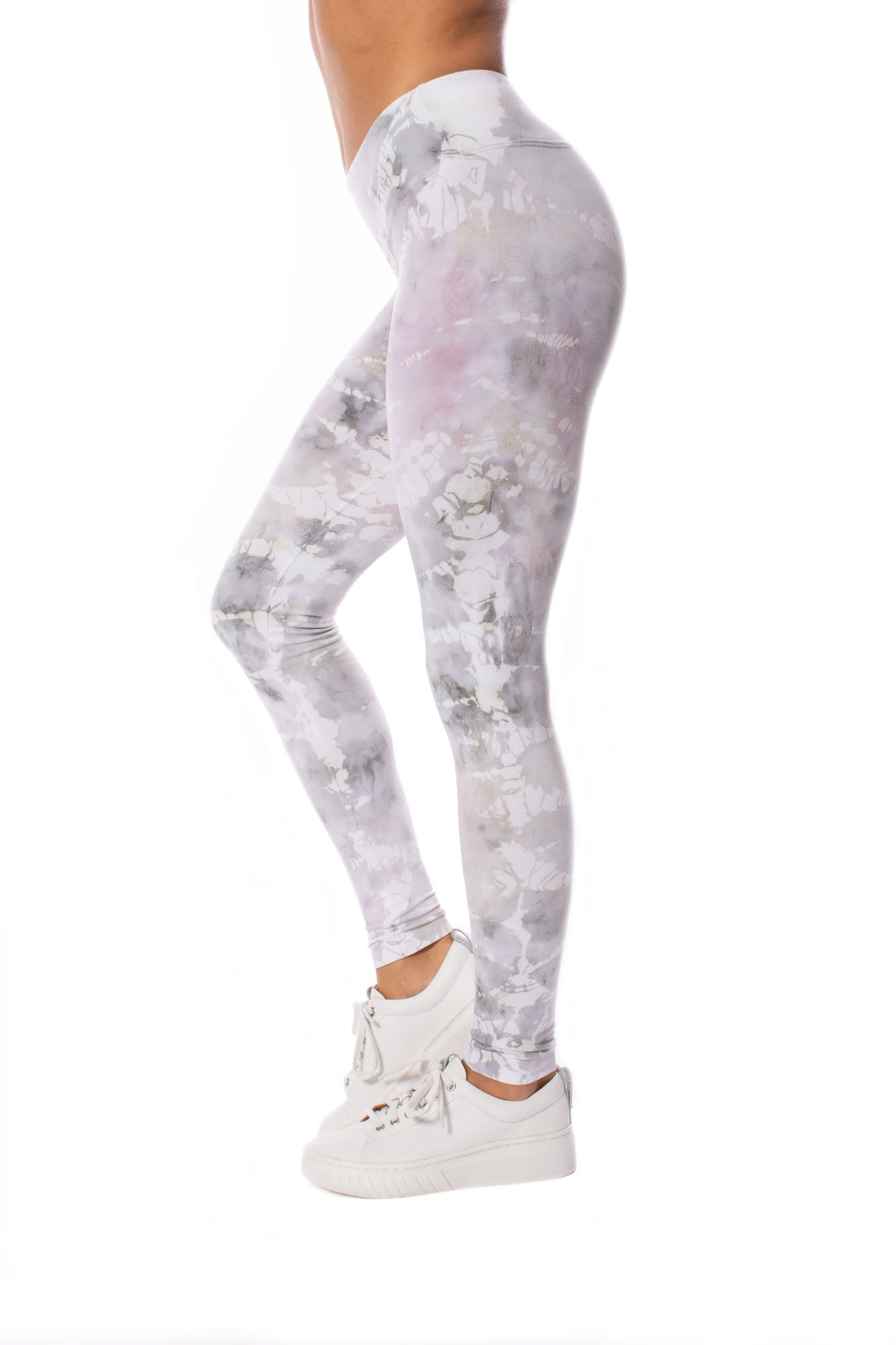 Hard Tail Forever - Flat Waist Ankle Legging (W-452, Tie-Dye STW3)