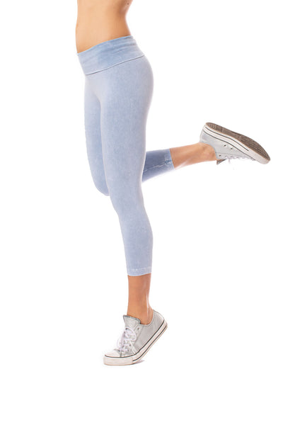 Hard Tail Forever - Roll Down Layered Legging (588, Mineral Wash MW4)