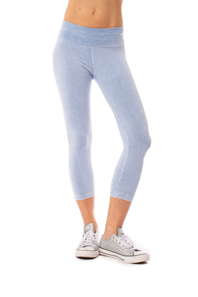 Hard Tail Forever - Roll Down Layered Legging (588, Mineral Wash MW4) alt view 1