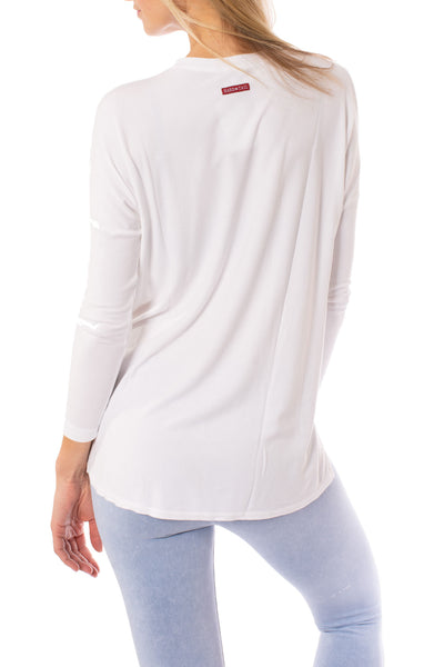 Hard Tail Forever - Slouchy  T (ROX-03, White) alt view 2